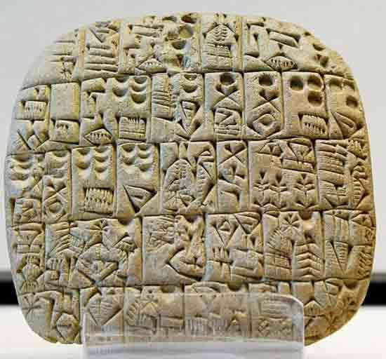 Глиняная табличка из-Шуруппака, около 2600-года до нашей эры