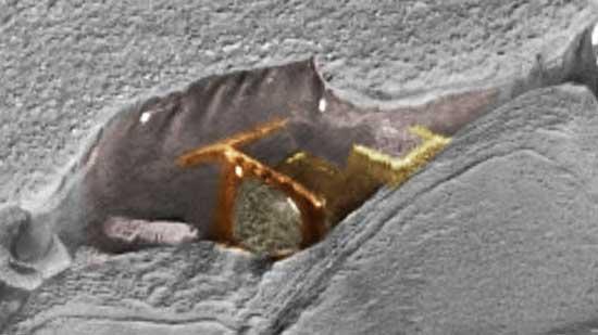 Звездные врата на Марсе в обработке цветом