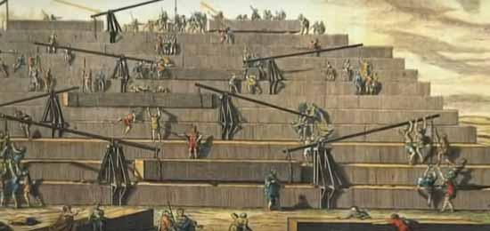 Пирамиды Египта, деревянные технологии быстрее железных
