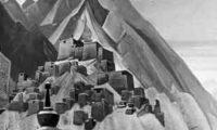 В окружении ледовых скал находится страна Шамбала