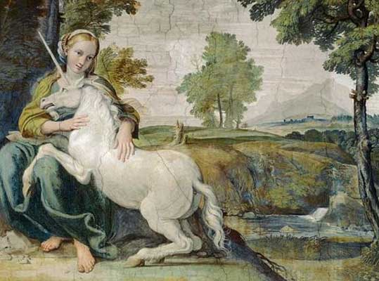 Единорог плененный девой