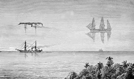 Фата Моргана, классический образец пугающих кораблей-призраков