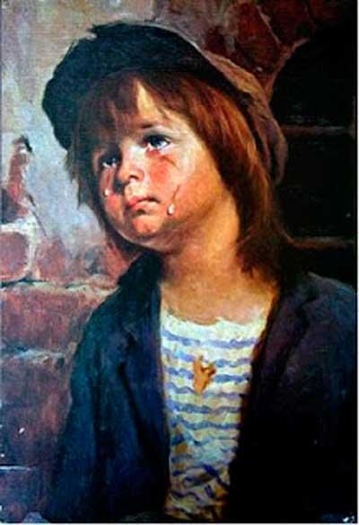 плачущая картина Браголини