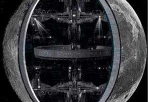 Луна внутри -конструкция космической станции инопланетян