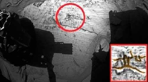 Наскальная живопись на Марсе, рисунок женщины